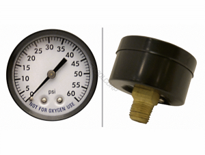 SuperPro 0-60 PSI Back-Mount Steel Pressure Gauge (1/4″ Threaded)